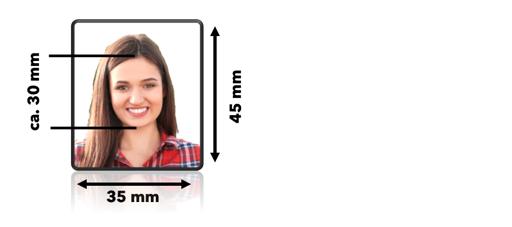 Ein ideales Foto für den Lernfahrausweis und später auch für den Führerschein.
