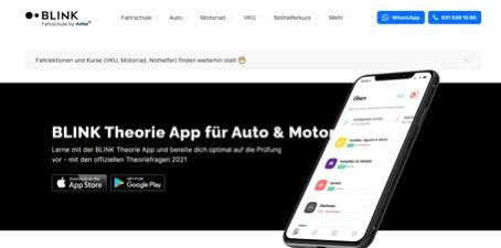 Blink Theorieapp - Software für die Theorieprüfung Führerschein Schweiz