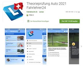 Fahrschule Theorie - Lernsoftware, App für die Theorieprüfung Fahrlehrer24 Schweiz